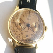 Chronographe Suisse Cie Yellow gold 37 mm exl crownmm Manual winding pre-owned