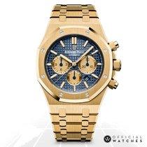Audemars Piguet Royal Oak Chronograph Yellow gold 41mm Blue No numerals