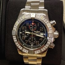 Breitling Super Avenger II Steel 48mm Black Arabic numerals