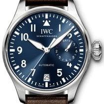 IWC Big Pilot Çelik Mavi Arap rakamları