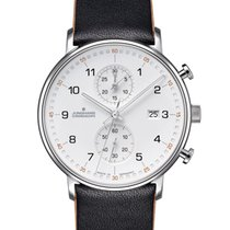 Junghans FORM C Otel 40mm Alb Arabic