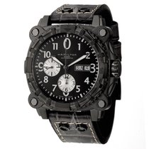 Hamilton Chronograph 46mm Automatic 2000 new Khaki Navy BeLOWZERO Black