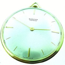 Sarcar Geneve Swiss Made Thin Yellow Gold Plated Pocket Watch
