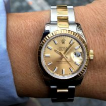 Rolex Chronometr 26mm Automatika 2010 použité Lady-Datejust Zlatá