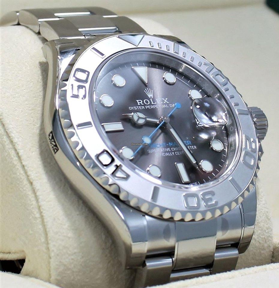 Rolex Yacht Master 116622 40mm Dark Rhodium Dial Oyster Platinum