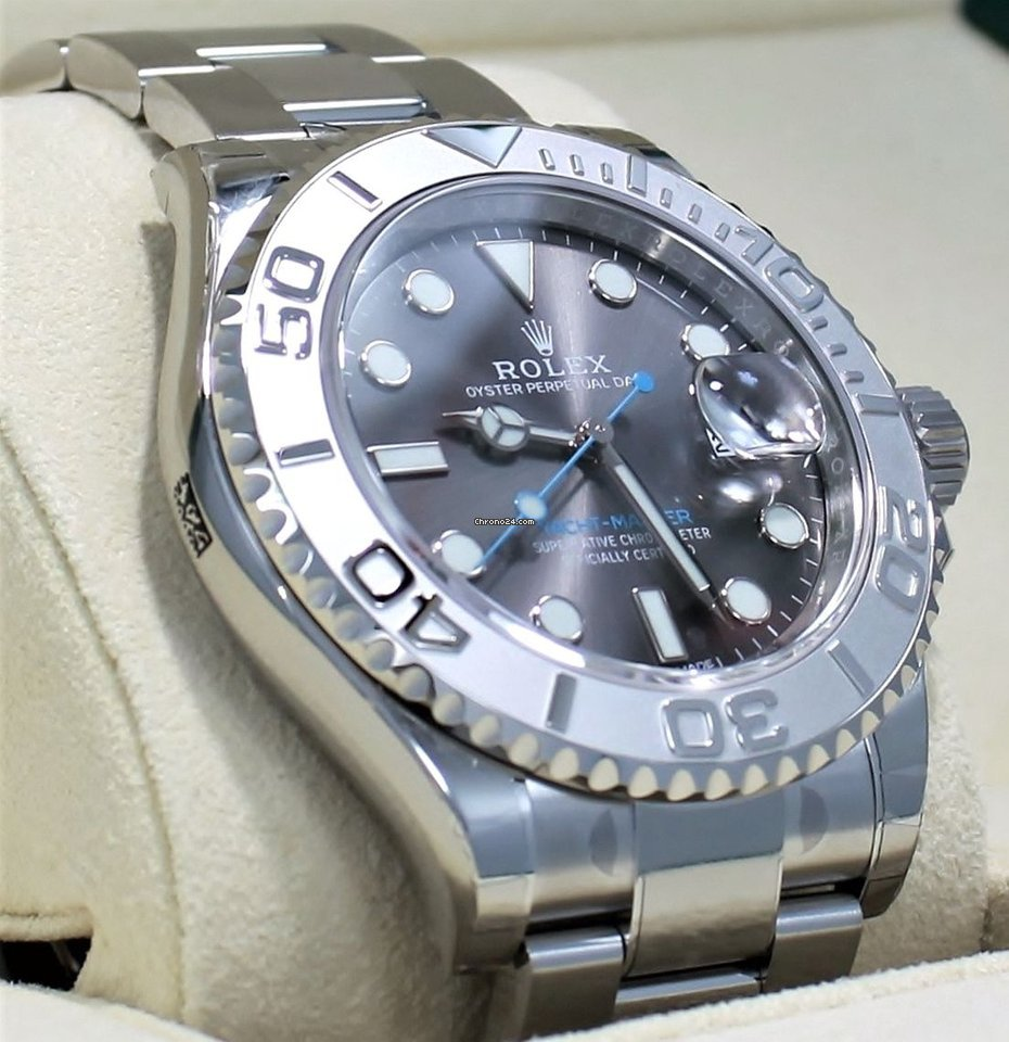 a6bcebfca5c Rolex Yacht Master 116622 40mm Dark Rhodium Dial Oyster Platinum for  ฿374