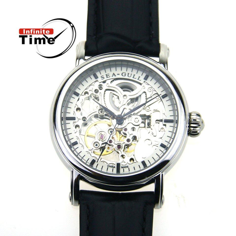 bellissimo a colori ottimi prezzi grande collezione Sea-Gull Seagull Dress Watch 182SK Skelenton Mechanical Automatic Men