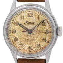 Minerva Steel 32mm Manual winding pre-owned United States of America, California, West Hollywood