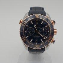 Omega Seamaster Planet Ocean Chronograph Gold/Steel 45.5mm Blue