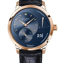 Glashütte Original Red gold Manual winding Blue No numerals 40mm new PanoReserve