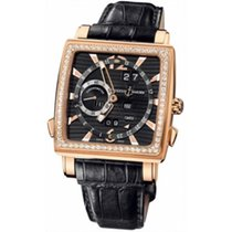 Ulysse Nardin Quadrato Dual Time Perpetual Red gold