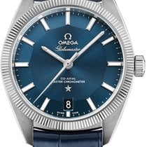 Omega Globemaster Steel 39mm Blue United States of America, New York, Airmont