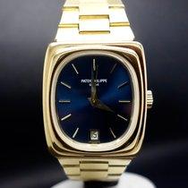 Patek Philippe Beta 21 Żółte złoto 37,5mm Niebieski Bez cyfr
