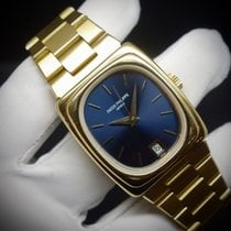 Patek Philippe Beta 21 Yellow gold 37,5mm Blue No numerals