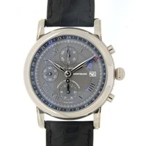 Montblanc Gmt Chrono 101637 White Gold, 42mm