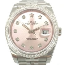 Rolex Datejust Diamonds Aftermarket NEU/VERKLEBT Box/Papiere