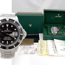 Rolex Mens 1984 Rolex Stainless Steel Submariner Date Watch...