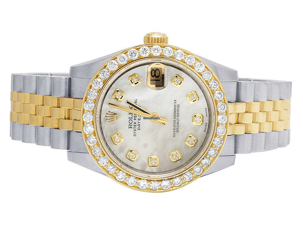 Rolex Ladies Rolex Datejust Midsize Two Tone 18K/ Steel 31MM 178243 Diamond  Watch 3 Ct
