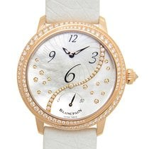 Blancpain Women 18 K Rose Gold With Diamonds Silvery White...