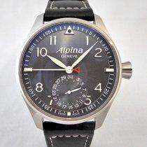 Alpina Startimer Pilot Manufacture Steel 44mm Grey Arabic numerals