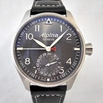Alpina Startimer Pilot Manufacture Steel 44mm Grey Arabic numerals