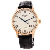 Glashütte Original Red gold Automatic White Arabic numerals 40mm new Senator Panorama Date