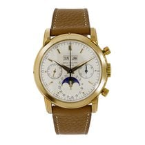Patek Philippe Perpetual Calendar Chronograph Yellow gold 37mm Silver No numerals United States of America, New York, New York