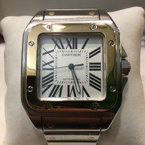 Cartier Santos 100 XL Acciaio e oro braccialato