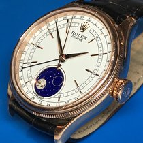 Rolex Cellini Moonphase Or rose 39mm Blanc Sans chiffres France, Paris