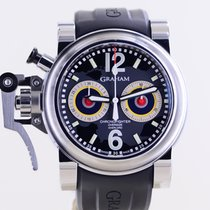 Graham Chronofighter Oversize Acero 46mm Negro Sin cifras