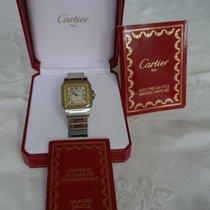 Cartier Santos Galbée Gold/Stahl 24mm Weiß Römisch Deutschland, Königswinter
