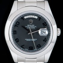 Rolex Day-Date II Platinum 41mm Black Arabic numerals