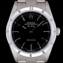 Rolex Air King Precision Otel 34mm Negru Fara cifre