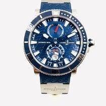 Ulysse Nardin Maxi Marine Diver pre-owned 45mm Blue Date Rubber