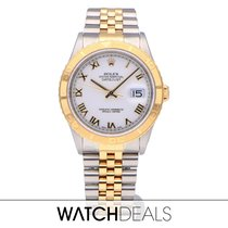 Rolex Datejust Turn-O-Graph Gold/Steel 36mm White No numerals