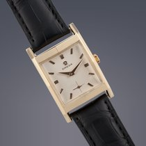 Omega Art Deco 18ct yellow gold manual watch Archive Papers