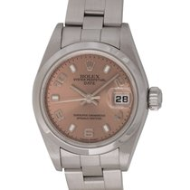 Rolex : Ladies Date :  79160 :  Stainless Steel : salmon dial