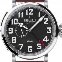 Zenith Pilot Type 20 GMT neu Automatik Uhr mit Original-Box und Original-Papieren 03.2430.693/21.C723