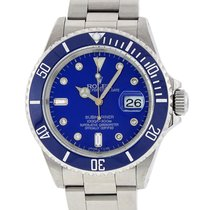 Rolex Stainless Steel Submariner 16610 Blue Diamond Ceramic