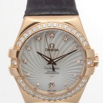 Omega Rose gold Manual winding pre-owned Constellation Ladies