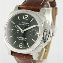 Panerai 40mm Automatic 2009 pre-owned Luminor Marina Automatic Black