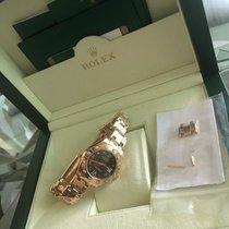 Rolex Lady-Datejust Pearlmaster Ouro rosa 34mm Castanho Romanos Portugal, Negrais