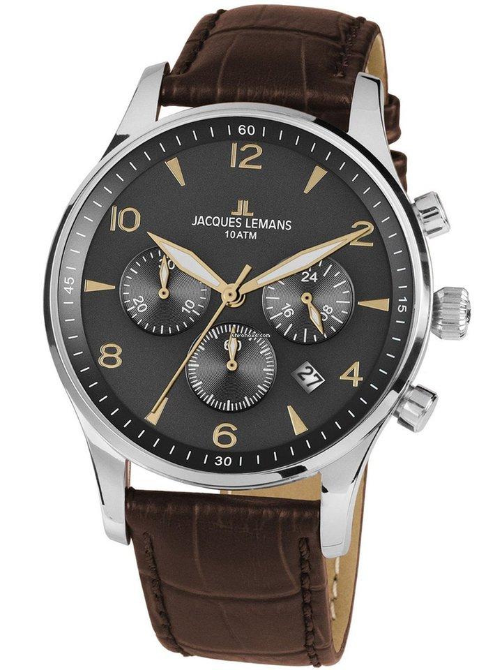 disponibile piuttosto fico marchi riconosciuti Jacques Lemans 1-1654ZJ London Chronograph 40mm 10ATM