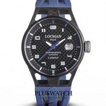 Locman Carbon Automatic Black Arabic numerals 41mm new Montecristo