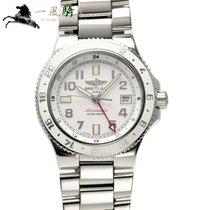 Breitling Superocean GMT Stahl 42mm Weiß