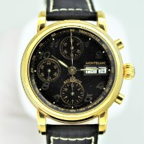 Montblanc Yellow gold Automatic Black Arabic numerals 38mm pre-owned Star