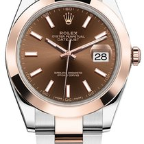 Rolex Datejust 41mm Steel and Everose Gold 126301 Chocolate...