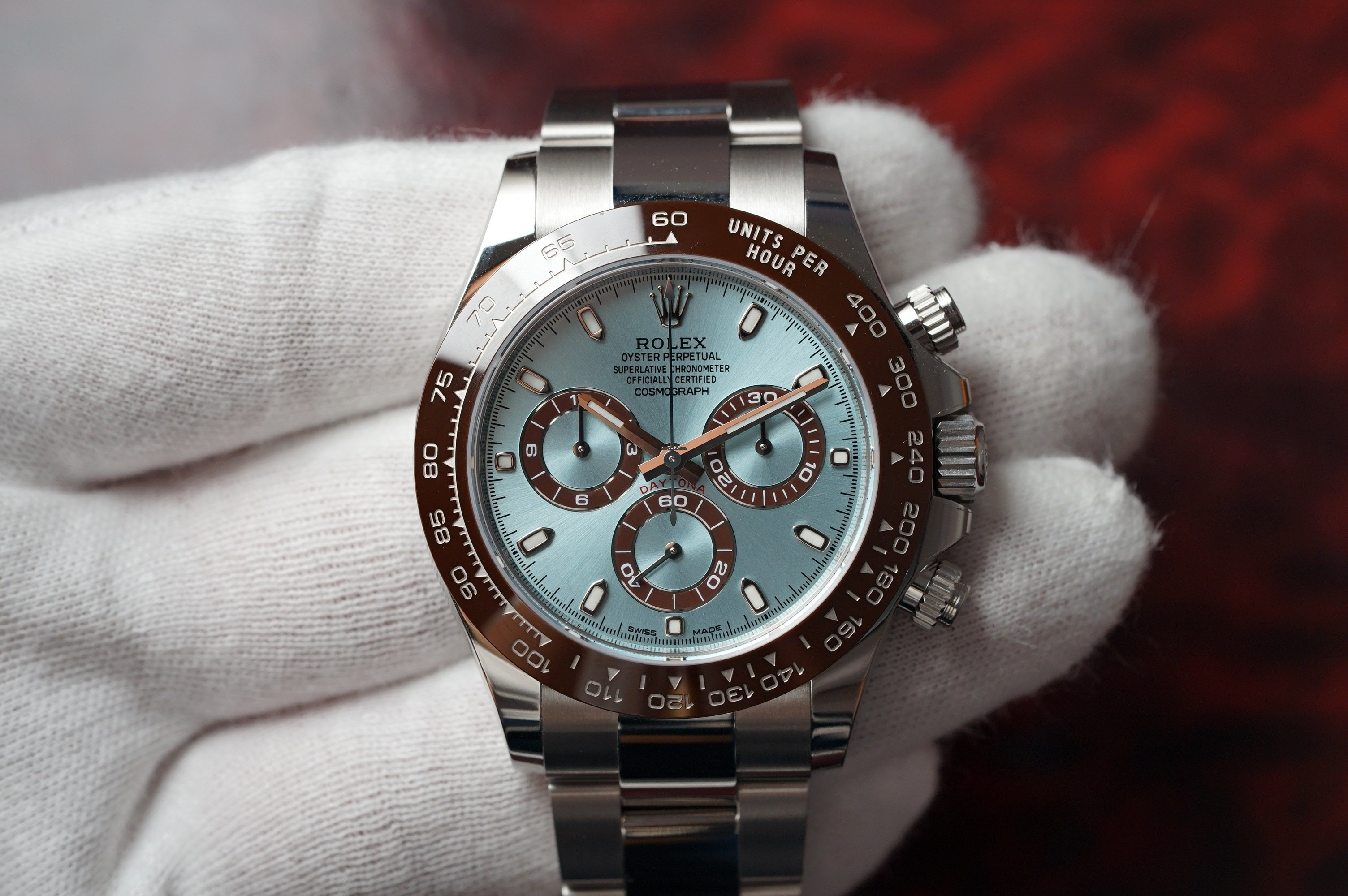 Rolex Platinum Daytona 116506 Ice Blue Dial New For 66 495 For Sale