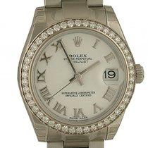 Rolex Datejust Medium Stahl Weißgold Diamond Armband Oyster...