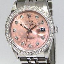 Rolex Datejust Stainless Steel Pink Flower Diamond Dial/Bezel...